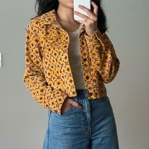 Urban Outfitters retro corduroy cropped jacket S